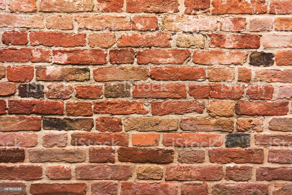 Red brick wall​​​ foto