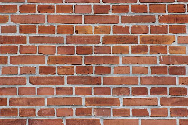 Red brick wall stock photo