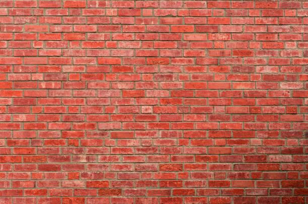 kırmızı tuğla duvar doku arka plan. metin için arka plan. dış mimari konsepti. - tuğla stok fotoğraflar ve resimler