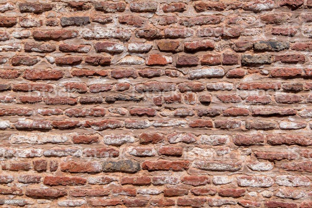 Rote Backstein Wand Textur Hintergrund. - Lizenzfrei Alt Stock-Foto