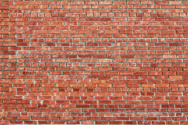 mur de briques rouges texture de fond grunge - brique photos et images de collection