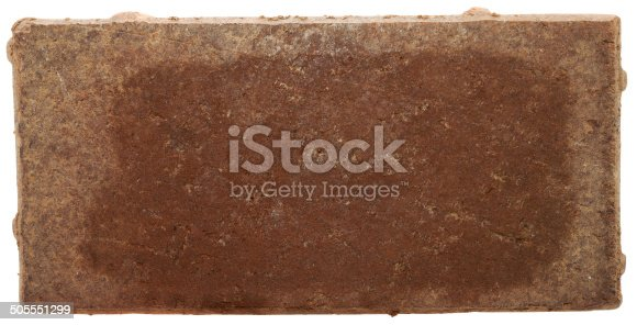 Red Brick with noticable white staining efflorescence on outside edge