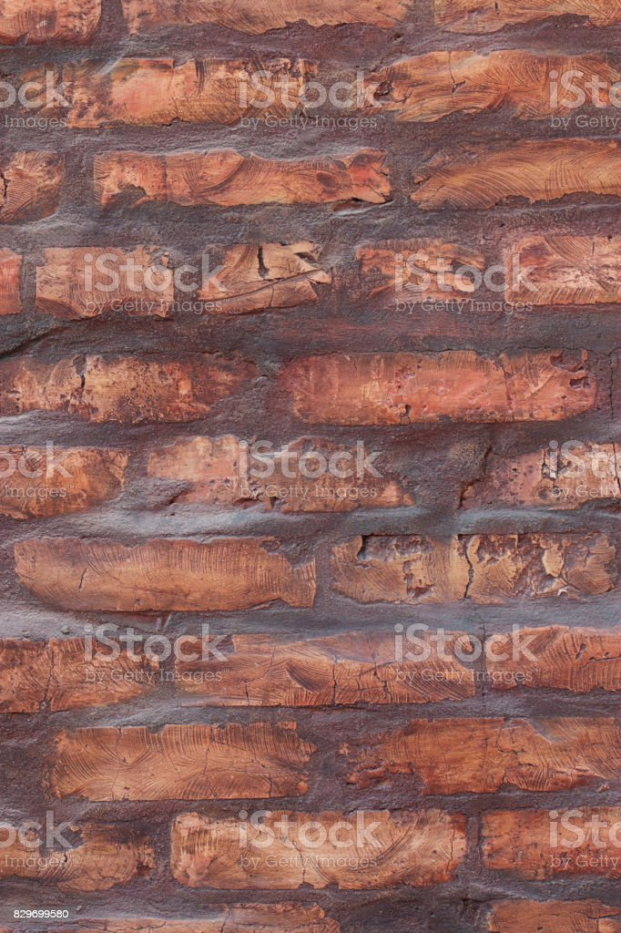 red bricks stacked in rows stock photo