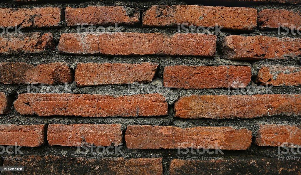 Red bricks used for wallpaper. foto de stock royalty-free