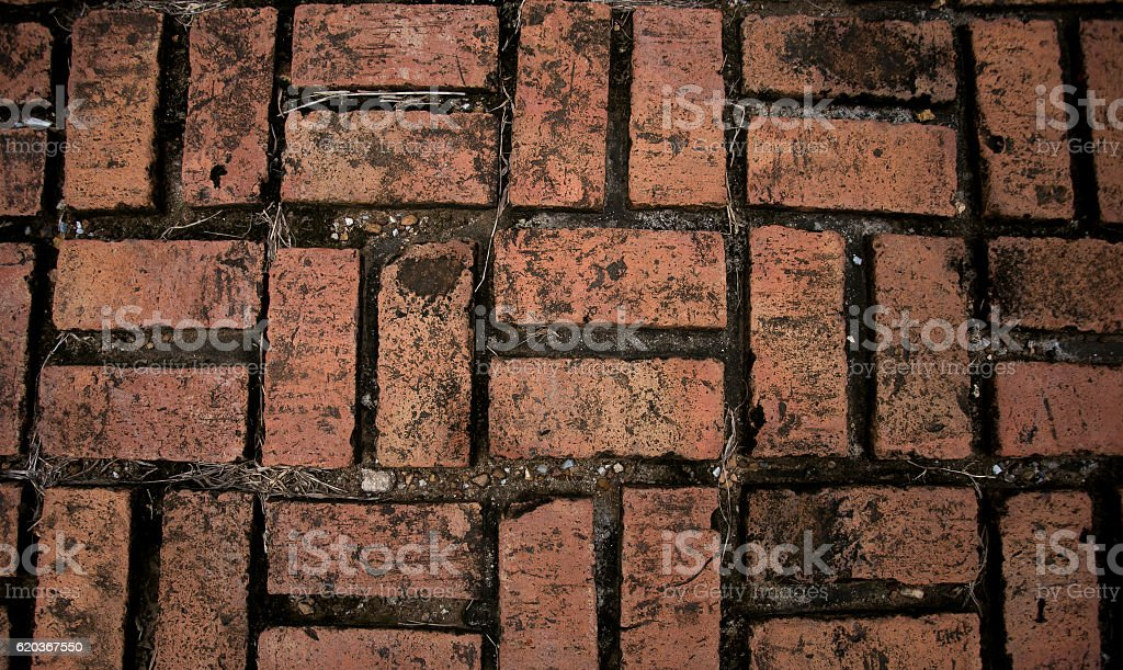 Red bricks used for wallpaper. zbiór zdjęć royalty-free