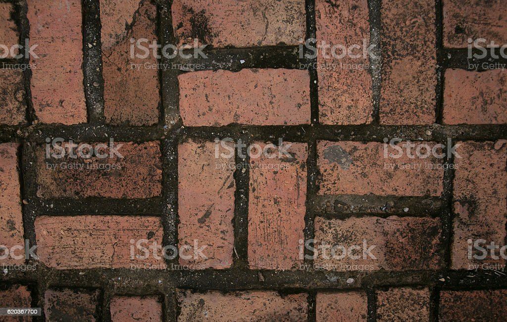 Red bricks used for wallpaper. foto de stock royalty-free