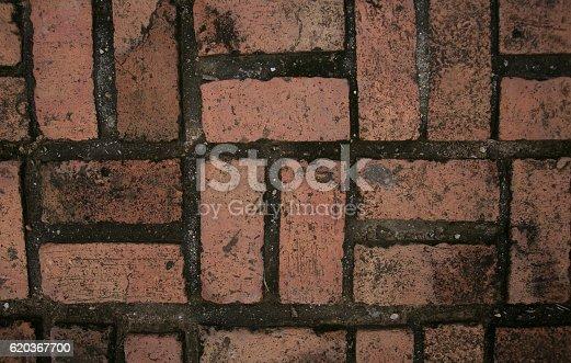 Red Bricks Used For Wallpaper - Stockowe zdjęcia i więcej obrazów Architektura
