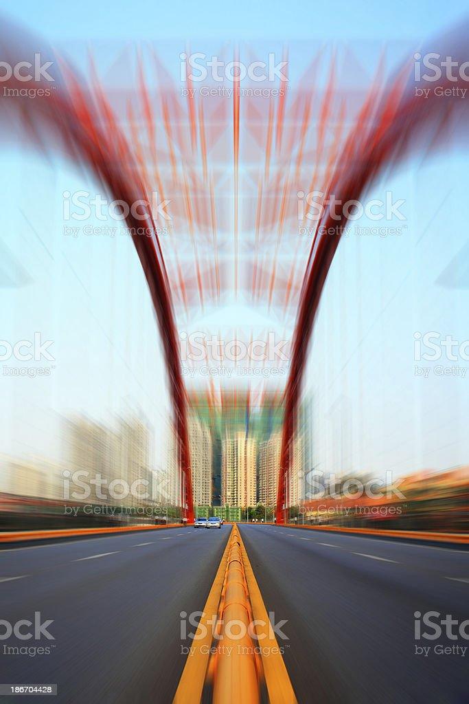 Red Bridge Arch royalty-free stock photo