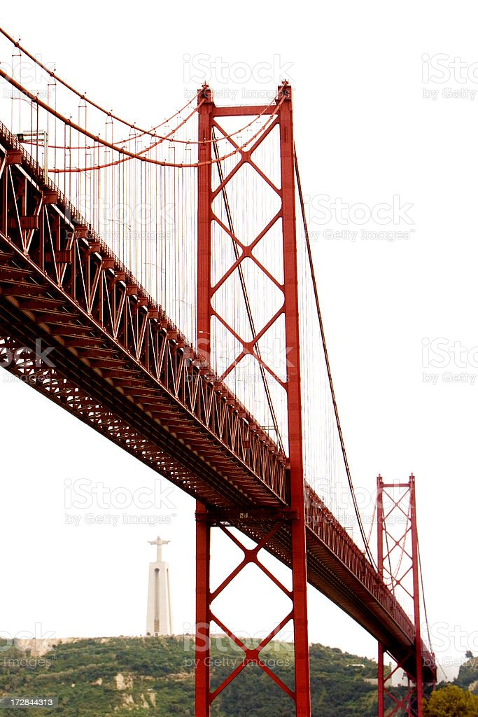 Red Bridge royalty-free stock photo