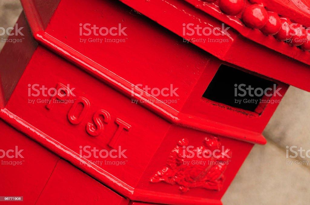 Red British Post Box royalty-free stock photo
