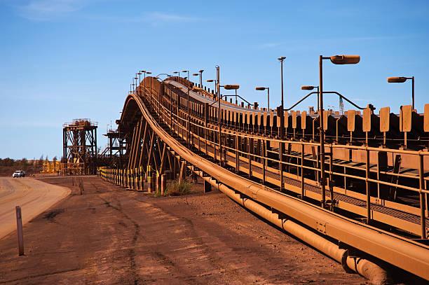 Förderanlage Gürtel auf Eisenerz Mine Site – Foto