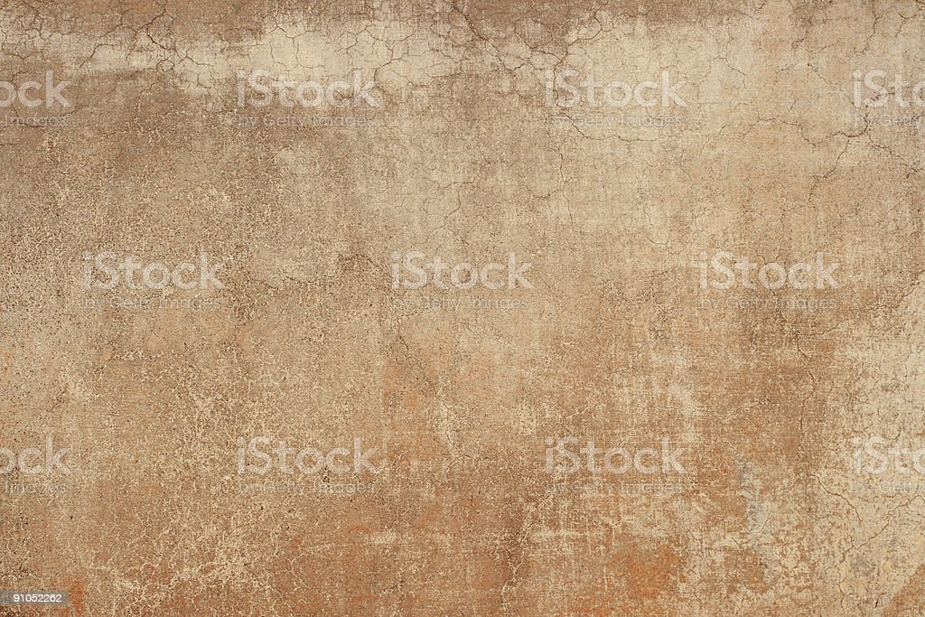 Red Brown grungy Roman wall texture, Rome Italy royalty-free stock photo