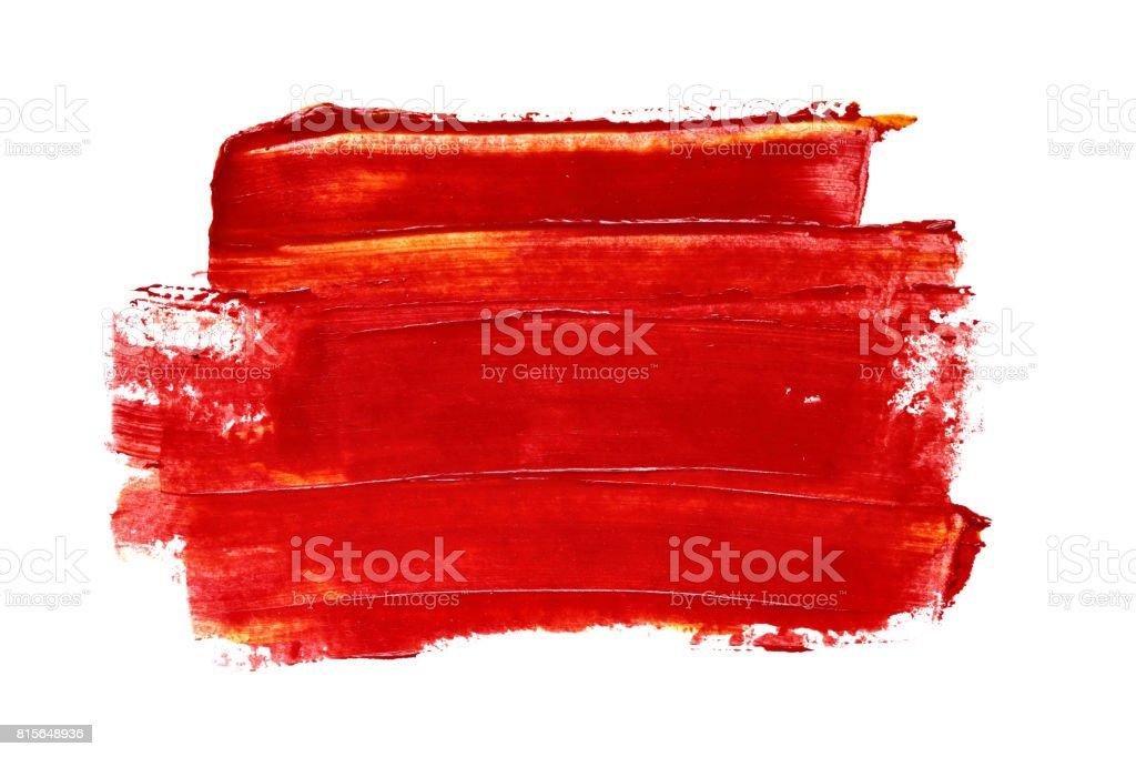 Kırmızı fırça darbesi stok fotoğrafı