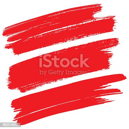 850235550 istock photo Red brush strokes isolated 850246032