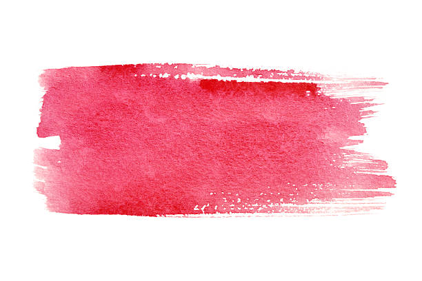 Red brush strokes Red watercolor brush strokes with space for your own text brush stroke stock pictures, royalty-free photos & images