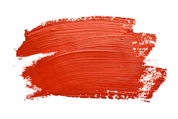 Red brush strokes Red brush strokes isolated on the white background brush stroke stock pictures, royalty-free photos & images