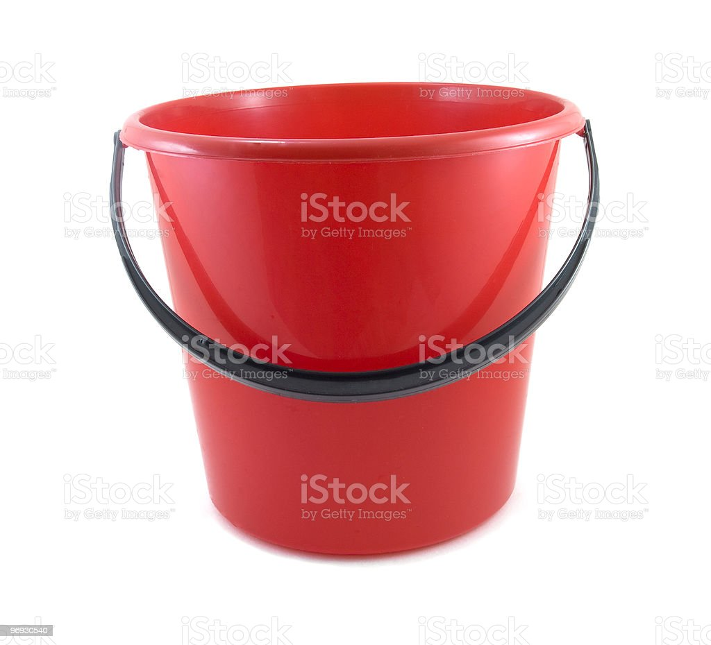 red bucket royalty-free stock photo