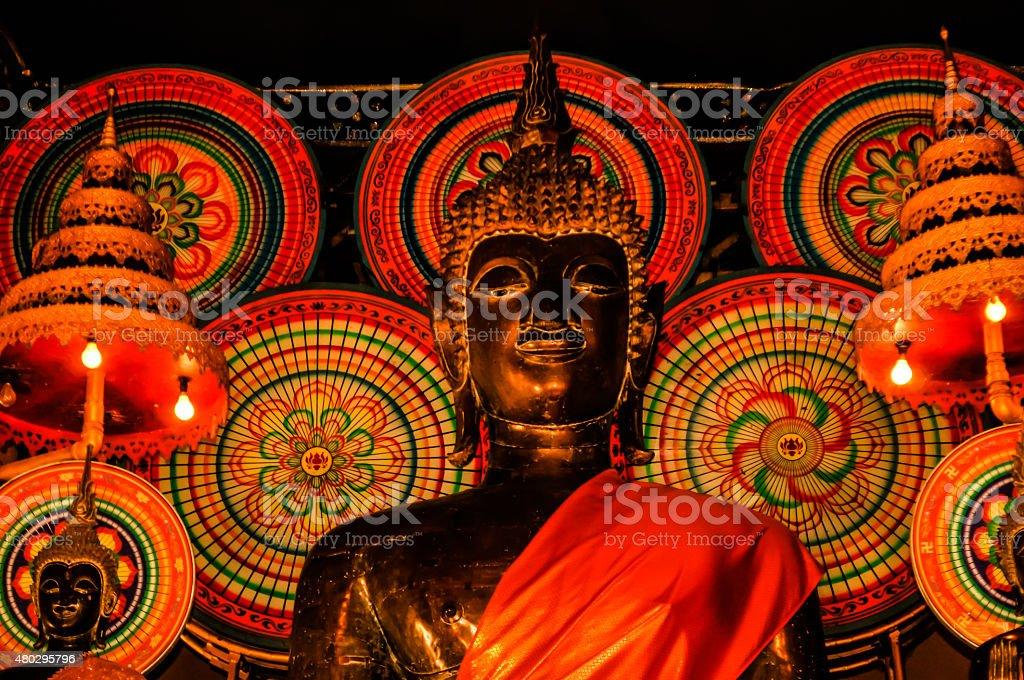 Red Buddha stock photo