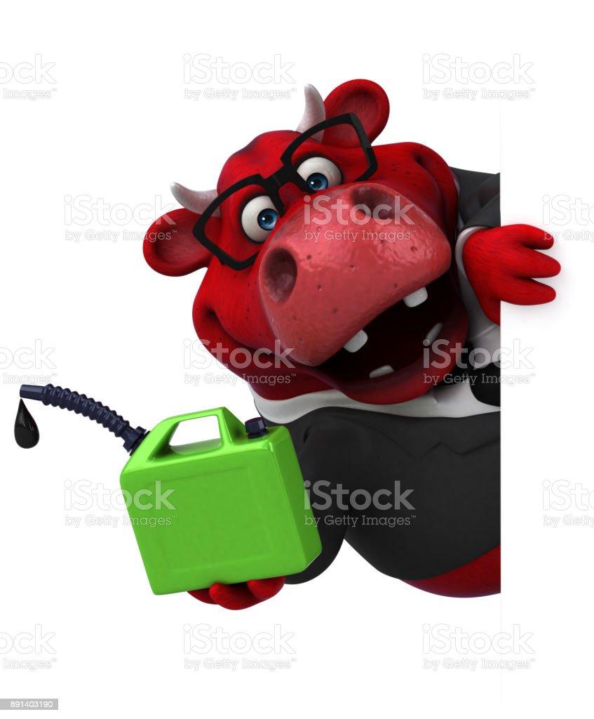 Red bull - 3D Illustration stock photo