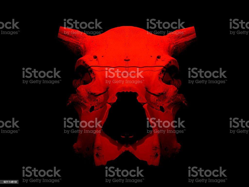 Red bull skull royalty-free stock photo