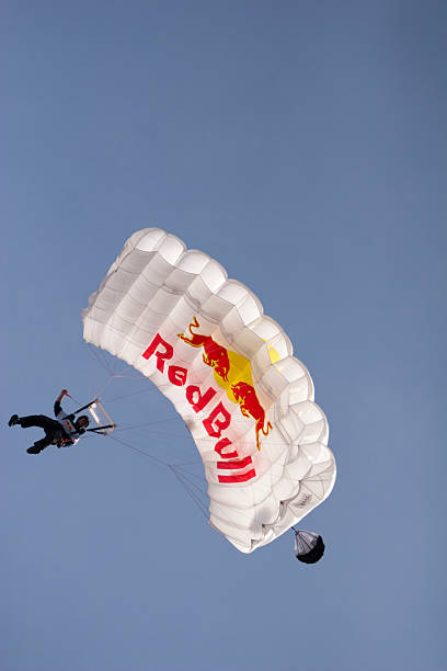 Red Bull Skydive member up in the air stock photo ef08c06811e