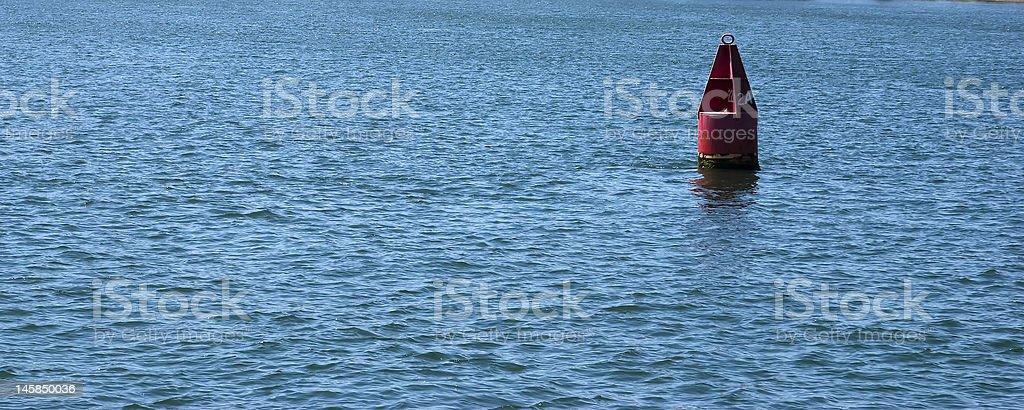 Red Buoy royalty-free stock photo
