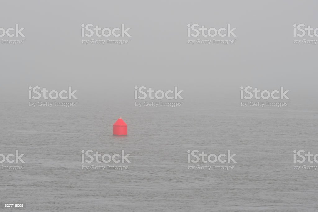 Red Buoy stock photo
