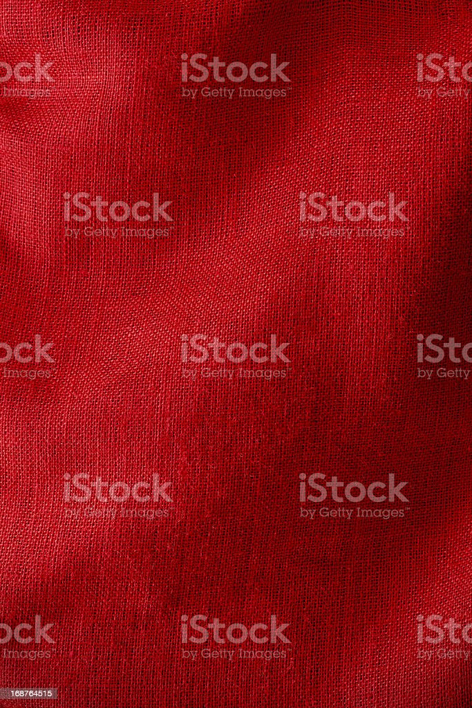 Red Burlap With Soft Folds stock photo