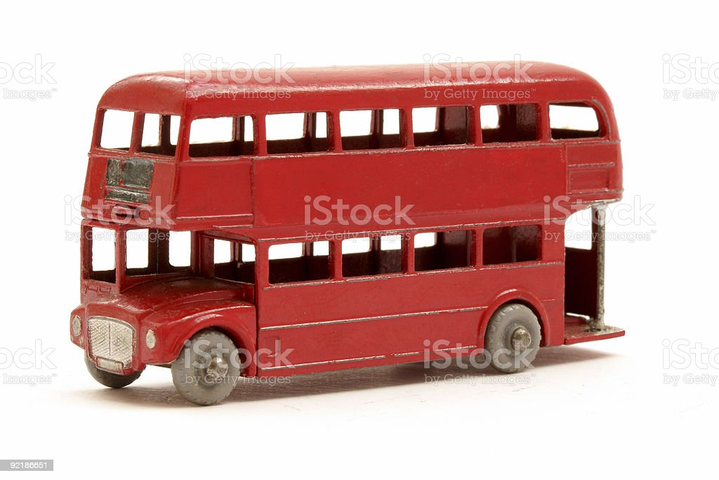 Red Bus model royalty-free stock photo
