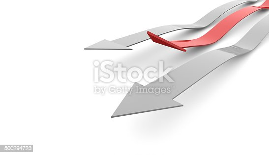 istock Red business concept arrows on white 500294723