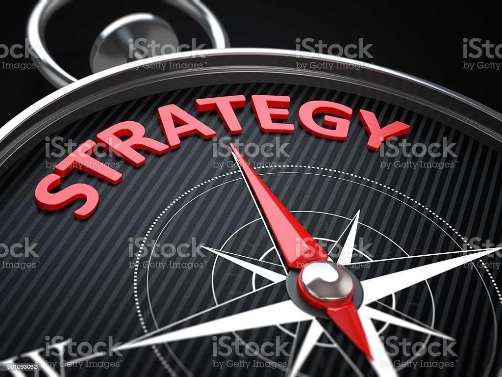 Red Business Strategy stock photo