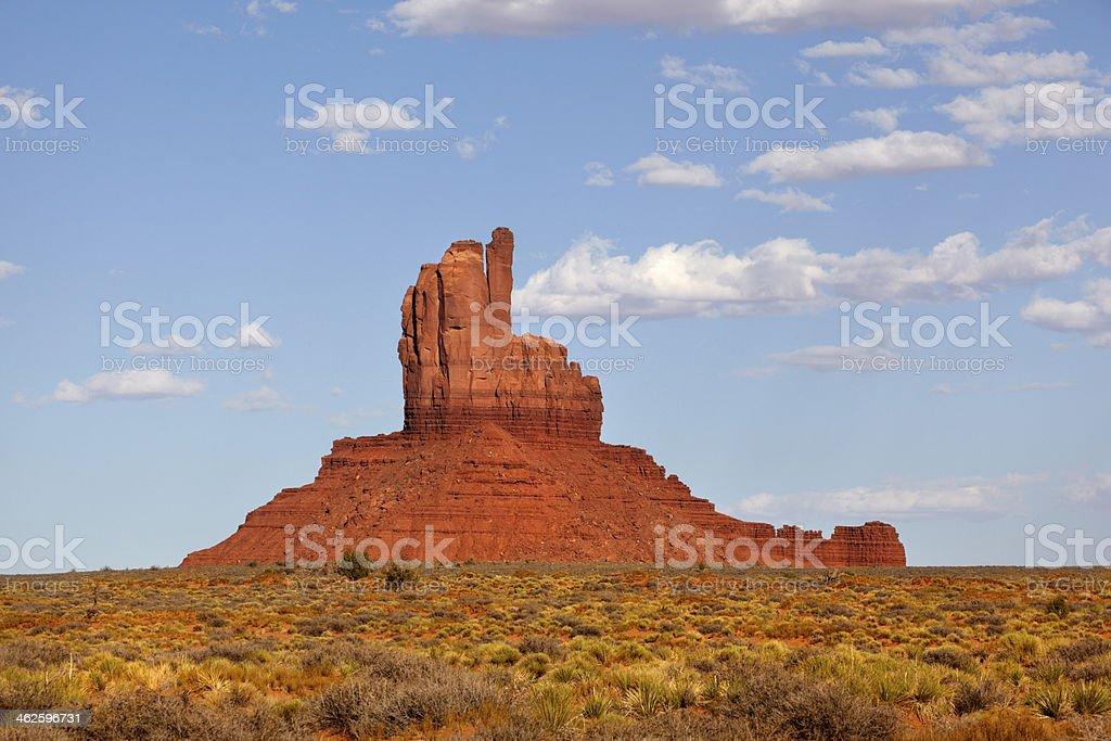 Red Butte, Halchita, Monument Valley, Utah, USA. stock photo