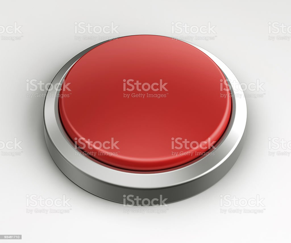 Red button - Empty royalty-free stock photo