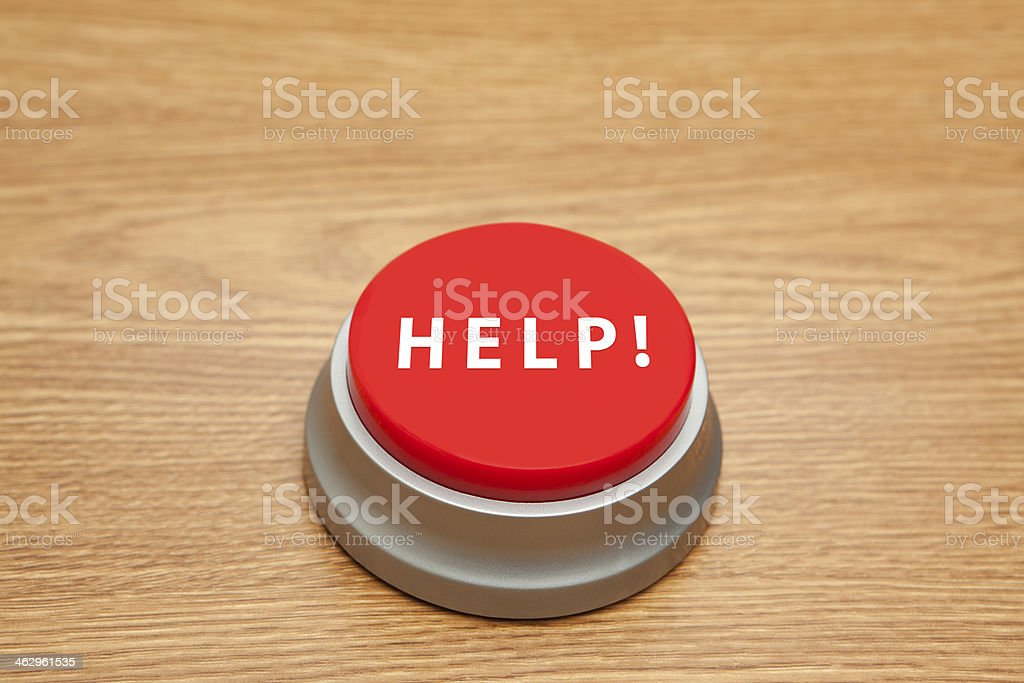 Red Button: Help stock photo