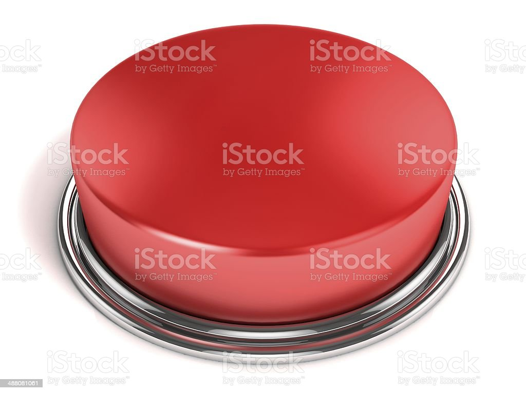 red button isolated on white stock photo