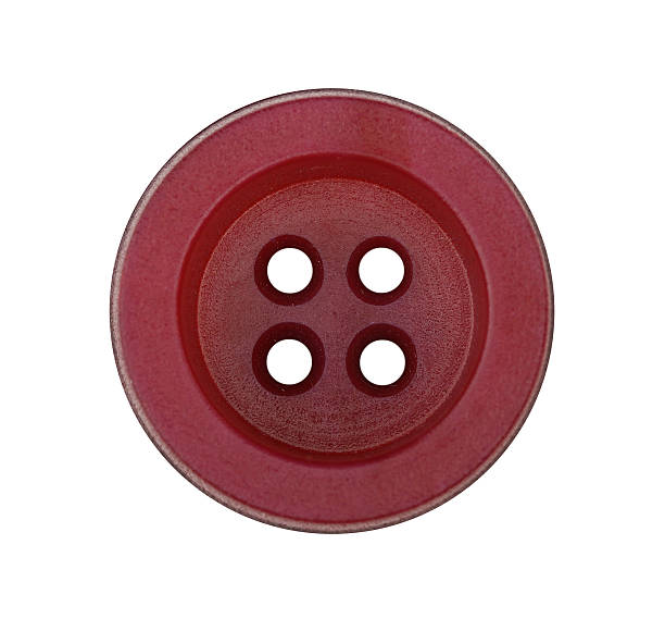 Red button on white background stock photo