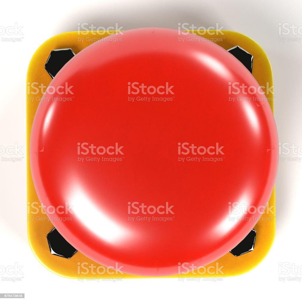 紅色按鈕 免版稅 stock photo