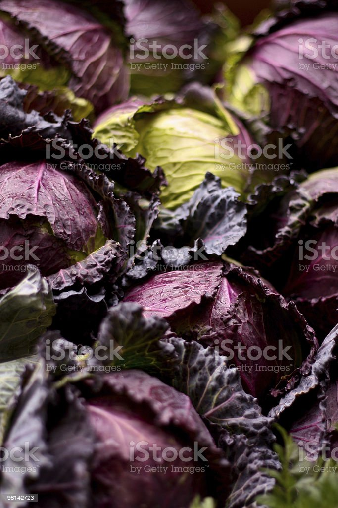 Red Cabbage at Borough Market royalty-free stock photo