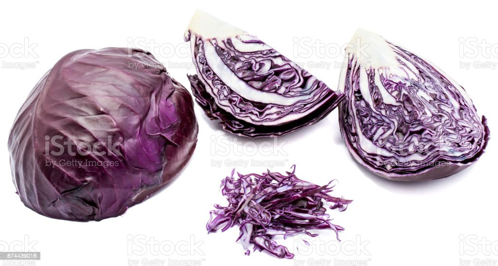 Red cabbage isolated stock photo