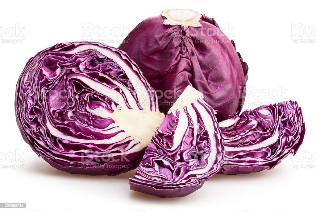 red cabbage stock photo