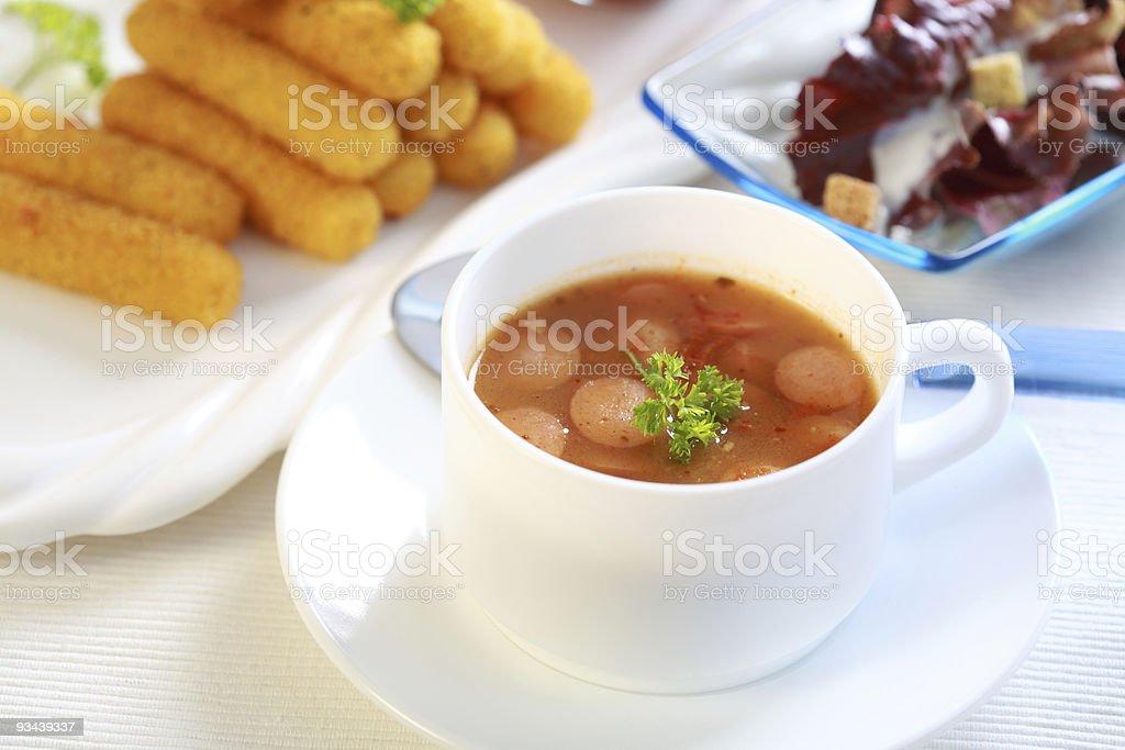 Red cabbage-Suppe Lizenzfreies stock-foto
