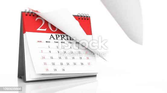 1124594277 istock photo Red Calendar on White Background 1095638866