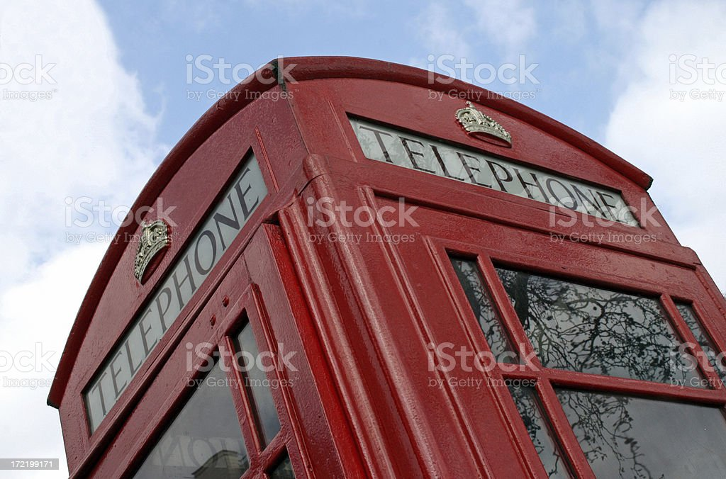 Red Call box - British telephone booth royalty-free stock photo