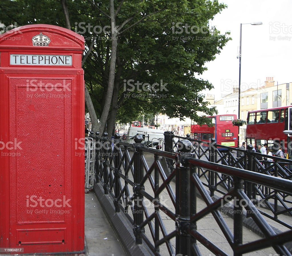 red call box royalty-free stock photo