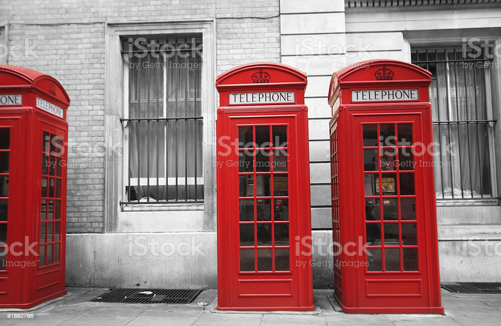 red call boxes royalty-free stock photo