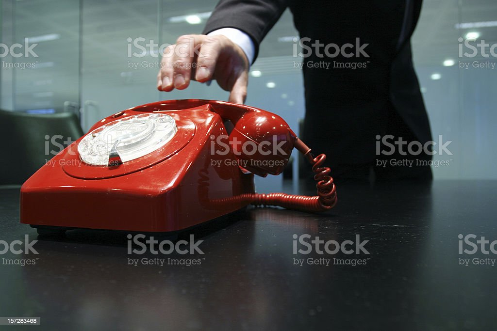 Red call royalty-free stock photo