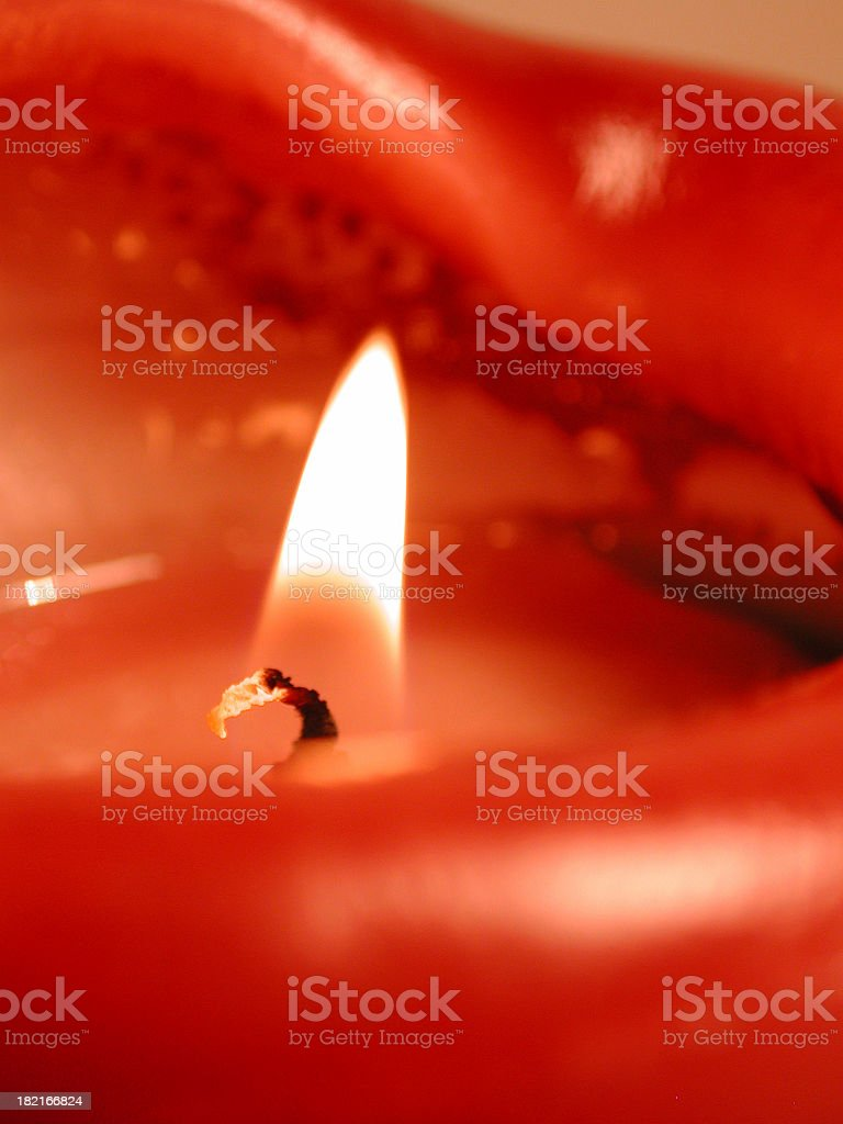 Red candle flame royalty-free stock photo