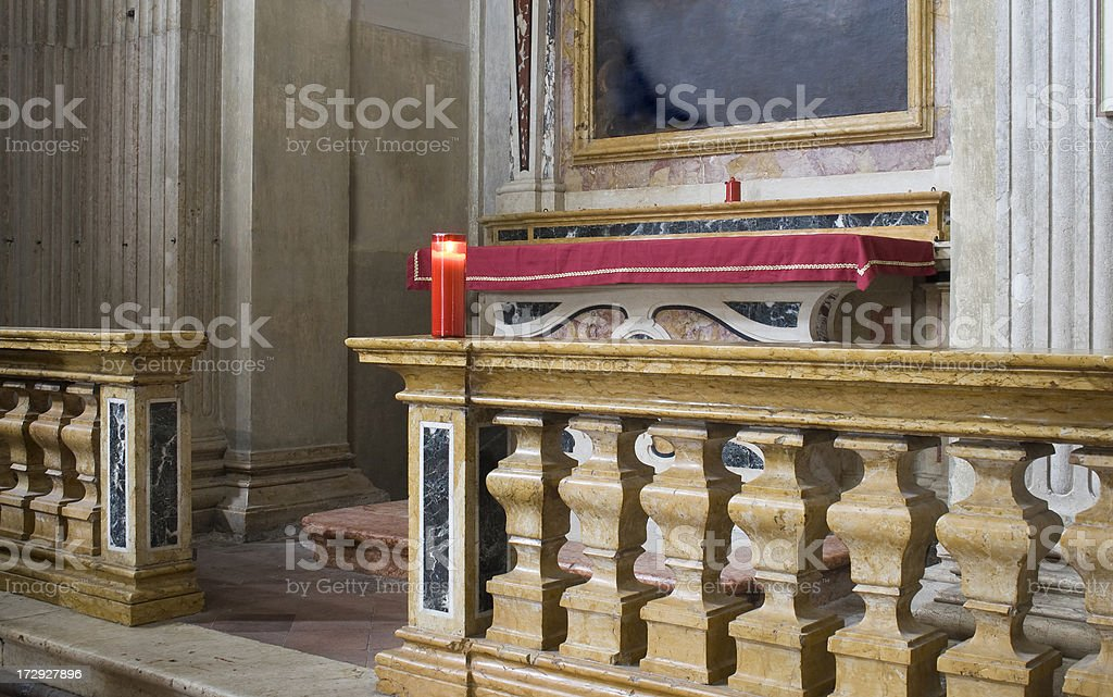 Red Candle in Church royalty-free stock photo