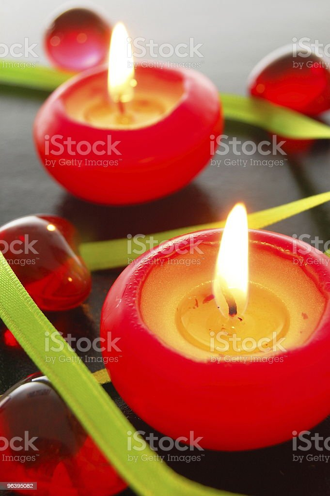 red candle light - Royalty-free Candle Stock Photo