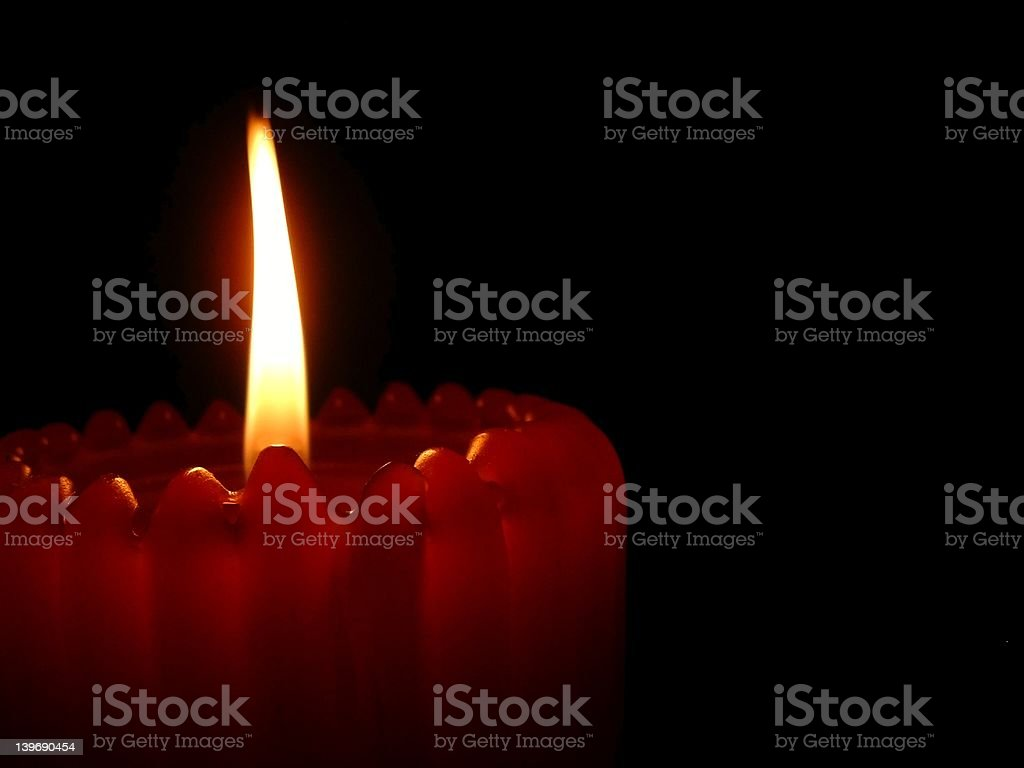 Red Candle stock photo